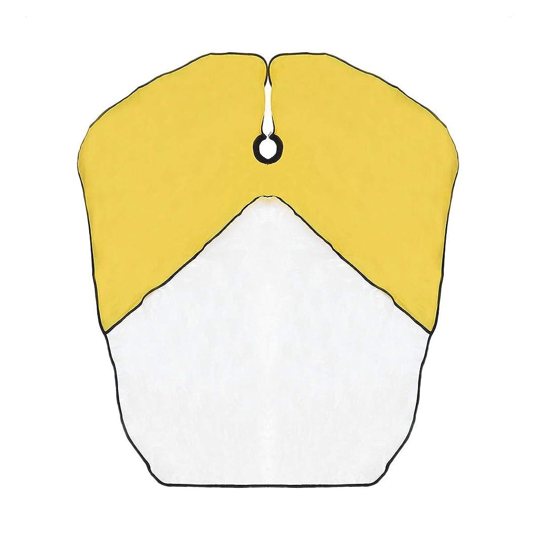 そこからアプライアンス低いSUPVOX キッズ防水ヘアカットケープベイベー布子供キッチンキャッチャーエプロンケープ(黄色)