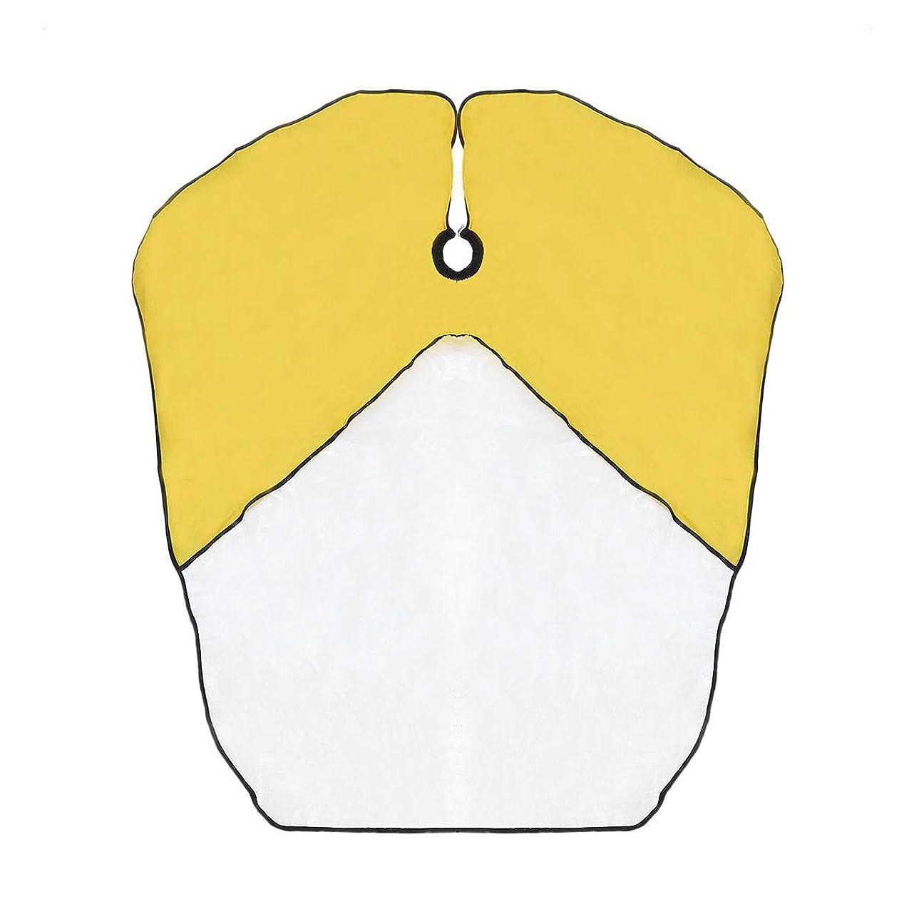 単位頭痛気づかないSUPVOX キッズ防水ヘアカットケープベイベー布子供キッチンキャッチャーエプロンケープ(黄色)