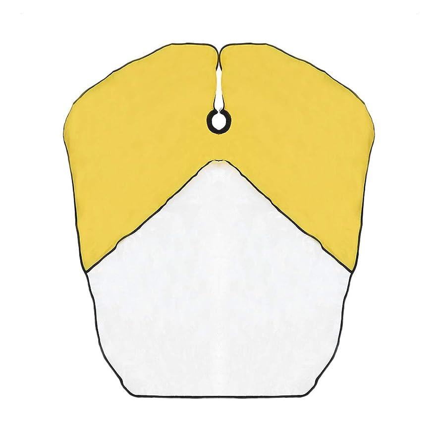 頑丈ささやき商品SUPVOX キッズ防水ヘアカットケープベイベー布子供キッチンキャッチャーエプロンケープ(黄色)