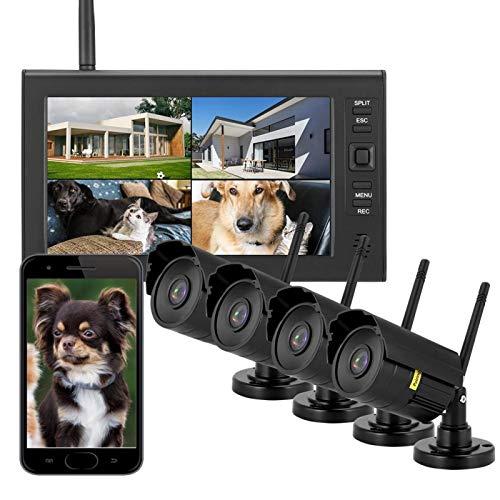 Sistema de cámara de Seguridad inalámbrico LCD de 7 Pulgadas, Noche de(Australian regulations (110-240V))