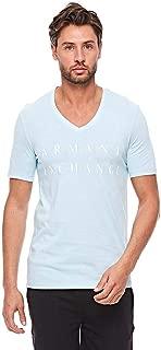 A X Armani Exchange T-Shirts For Men, XXL, Blue (8NZTCMZJH4Z-042)