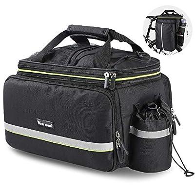 WESTLIGHT Bike Bag Rack Rear,20-35L Large Capacity Bike Trunk Bag Panniers Waterproof,Durable Bicycle Backpack Rack,Pannier Bags for Motorcycles Mountain Bike Road Bike MTB BMX,Portable Bicycle Bag