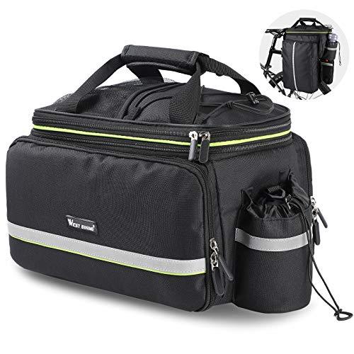 WESTLIGHT Gepäckträgertasche für Fahrrad Damen,20-35L Große Kapazität Fahrradtasche Ggepäckträger Rucksack,Satteltasche Fahrrad Gepäckträger,Packtaschen für Rucksack,MTB Satteltasche für Fahrrad Vaude