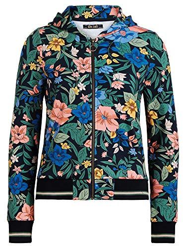 King Louie Damen Kapuzenjacke Hoody Jacket Belize (M, Night-Sky Blue)