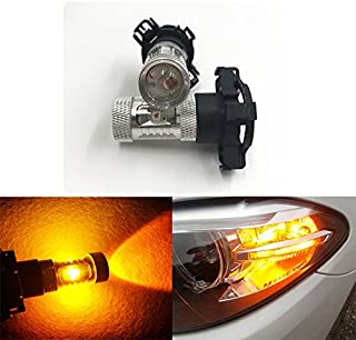 GFJMC 2 Amber Yellow Error Free CREE PY24W 5200s High Power LED Bulbs Turn Signal Bulb for BMW E90/E92 3 F10/F07 5 Series E83/F25 X 3 E70 X 5 E71 X 6 Z4