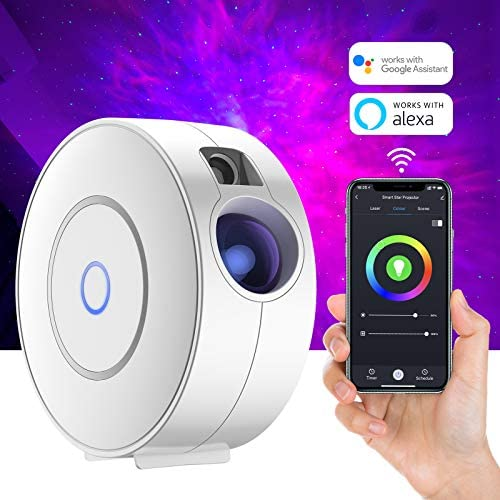 Smart Galaxy Star Projector with Nebula Cloud Moving Ocean Wave Star Sky WiFi Night Light Projector product image
