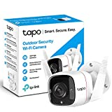 TP-Link Tapo Outdoor Security Camera/CCTV, Weatherproof, No Hub Required, Works with Alexa&Google Home, 3MP High Definition, Built-in Siren with Night Vision, 2-way Audio, <span class='highlight'>SD</span> Storage(Tapo C310)