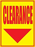 Clearance Store ビジネス小売用ディスプレイサイン 18インチ x 24インチ フルカラー 5パック