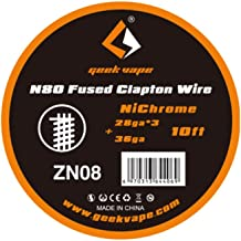 Geekvape 10feet Nichrome 80 Ni80 Fused Clapton Heating Coil Resistance Wire Winding Wire
