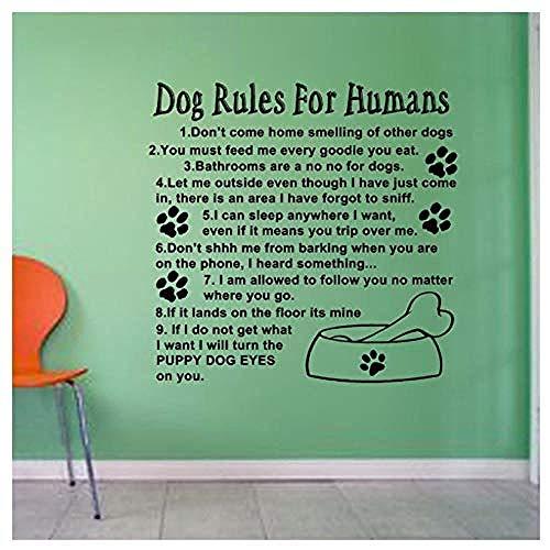 Pegatinas de pared de moda moderna pegatinas de pared personalizadas reglas humanas del perro lindo amor casa de perro 60 * 60Cm