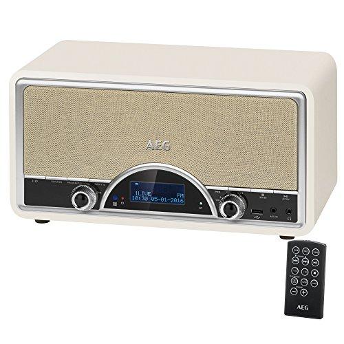 AEG NDR 4378 Retro-Digitalradio mit Bluetooth und DAB+ AUX-IN USB-Port Kopfhöreranschluss (3,5 mm) Creme