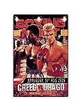 Asher Rocky Balboa - Placa decorativa de metal con diseño retro inspirado en el boxeo, el gimnasio,...