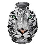 Discount Boutique Sweat à Capuche Lion 3D Impression numérique en Vrac Décontracté Couple Hauts et Poches