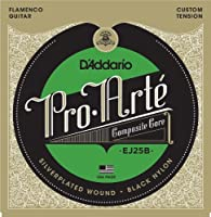 【 並行輸入品 】 D'Addario (ダダリオ) EJ25B Pro-Arte Black ナイロン Composite Flamenco ギター弦