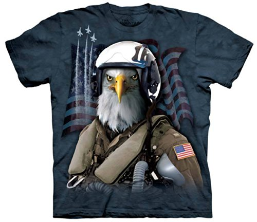 The Mountain T-Shirt Combat Stryker Tee, Blue, Medium