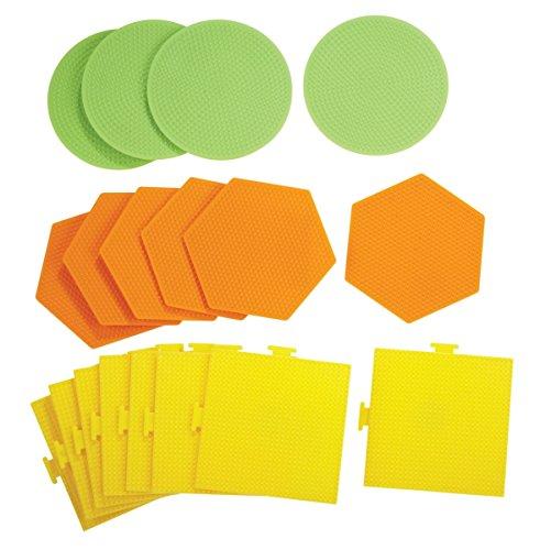 Perler 1500706 Large Pegboard Set44; Assorted Color - Set of 18