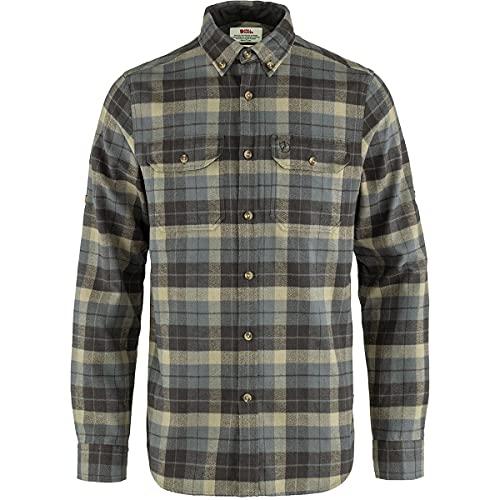 Fjallraven F81373-046-018 Singi Heavy Flannel Shirt M Super Grey-Stone Grey M