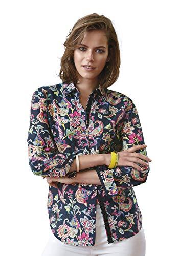 Looxent Damen Bluse mit Hemdkragen und Knopf