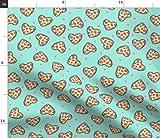 Spoonflower Stoff – Pizza-Herz Valentinstag Love Foodie