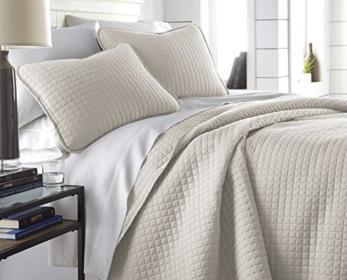 Southshore Fine Linens - Vilano Springs Oversized 2 Piece Quilt Set, Twin/Twin XL, Bone