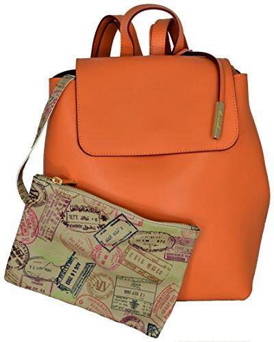 ALVIERO MARTINI Zaino Donna Arancio Backpack Woman Orange