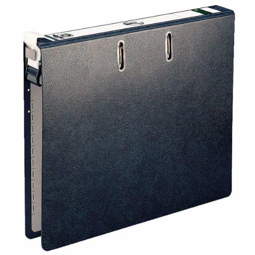 Leitz 29220000 Hängeordner (A4, Rückenbreite 5 cm, Griffloch, Hartpappe (RC), Hängeschwenkbügel aus Kunststoff, ALPHA DUO) schwarz