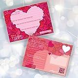 52 Hochzeit Postkarten – Hochzeitsspiele PORTOFREI möglich – Hochzeitsspiel Karten Set mit 52x Postkarten Hochzeit – tolle Hochzeitsideen und Hochzeitsüberraschungen für Gäste – 1 Jahr Postkartengruß für das Brautpaar - Tipps Karten mit Herzmotiv