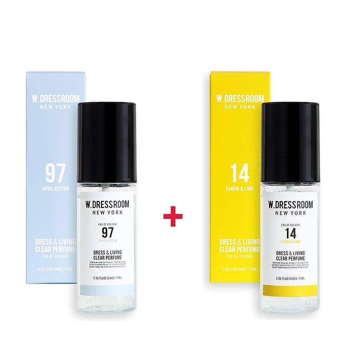 再発する運ぶパワーW.DRESSROOM Dress & Living Clear Perfume 70ml (No 97 April Cotton)+(No 14 Lemon & Lime)
