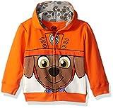 Nickelodeon Toddler Boys' Paw Patrol Character Big Face Zip-Up Hoodies, Zuma Orange, 4T