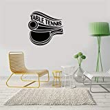 calona Dirt Bike Stickers for Walls Table Tennis Doubles Backhand Drop Shot for Kids Room Play Room Sport Room...