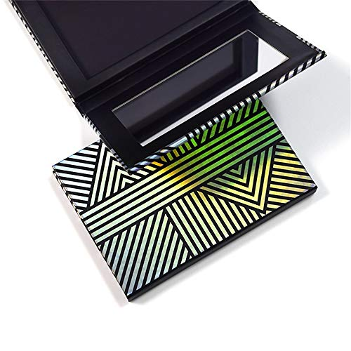 TUOKING Makeup Magnetic Palette with Mirror and 20Pcs Metal Stickers Empty Storage Palette for Eyeshadow Powder Highlighter