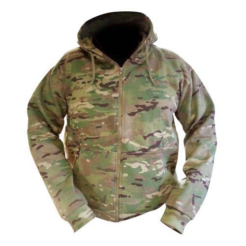 Zip Zap Zooom Sweat à capuche pour homme Fermeture Éclair sur toute la longueur Style camouflage militaire armée combat UTP Polaire - - XL