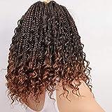 8 Packs Box Braids Crochet Braids with Curly Ends Crochet Box Braids 3X Box Braid Crochet Hair Extension(12, 1B/30)……