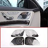 MYlnb Para Mercedes Benz W222 S Class S320 s350 2014-2018, Puerta de Audio para el automóvil de Acero Inoxidable, Cubierta del Altavoz Ruidoso Trim Car-Styling 4pcs / Set