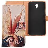 Lankashi PU Flip Leder Tasche Hülle Hülle Cover Schutz Handy Etui Skin Für Lenovo ZUK Z1 5.5