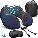 Dreamingg Memory Foam Travel Pillow with Eye Mask & Travel Carry Bag