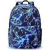 S-ZONE 15.6Inch Starry Lightning Stylish Backpack Travel Rucksack School Bags for Teenager Girls