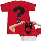 Deadpool - Camiseta de Manga Corta con diseño de Signo de interrogación - Rojo - Medium
