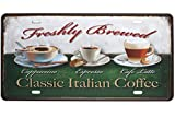 SUMIK Classic Italian Coffee Cappuccino Espresso Cafe Latter, Metal Tin Sign, Vintage Art Poster Plaque Kitchen Cafe Home Wall Decor