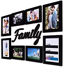 Art street Special Moments - Set of 8 Individual Wall Photo Frames with Family MDF Plague