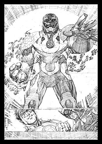 DC Comics FaNaTtik Art Print Darkseid Comic Book Art Print 42 x 30 cm Posters