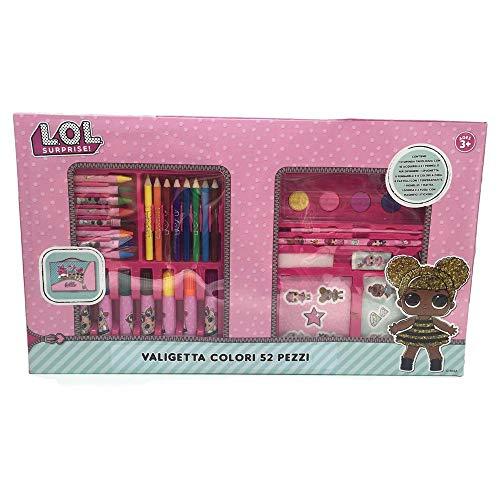 COLORI Valigetta LOL Surprise Dolls Scuola Tempo Libero 52 Pezzi Bambina - LL0184