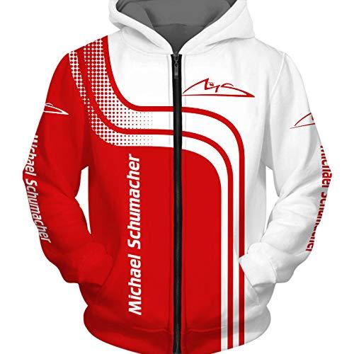 Männer Hoodies Zum Michael-Schumacher 3D Drucken Kapuzenpullover Pullover/Zip Jacke Unisex Sweatshirts Jersey Leisure / B1 / L