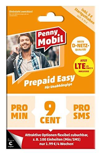 congstar Penny Mobil Prepaid Easy inkl. 5€Startguthaben im Netz der Deutschen Telekom. Flexibel Optionen hinzubuchen oder 9ct/Min oder SMS