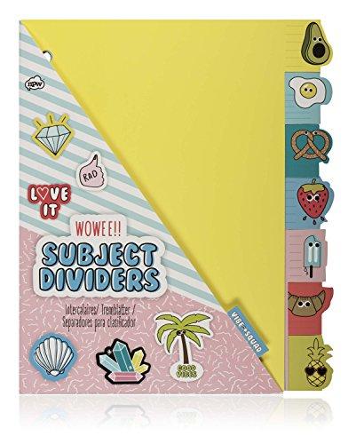 NPW NPW55627 Emoticon tabbladen map - set met 7 thematische verdelers Vibe Squad