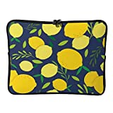 Yellow Lemon Pattern 13 Inch Protective Laptop Sleeve Ultrabook Notebook Carrying Case Compatible with MacBook Pro MacBook Air Tablet Briefcase Bag