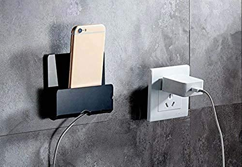 SIGNOOGLE Mobile Holder for Home Wall Charging Acrylic Stand Double Side Tape at Backside Samsung Nokia Huawei Redmi for All Type mobiles 9 x 10 cm