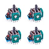 RGEEK 4Pack 3D Analog Stick Joystick Replacement for Playstion 4 PS4 Controller