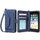 Galaxy S7 edge SC-02H 手帳型 ケース 可愛い 財布型 ストラップ付き カード収納 カバー (ネイビー) DoCoMo ドコモ