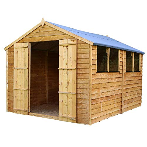WALTONS EST. 1878 Wooden Garden Shed 10x8 Outdoor Storage Building, Apex Roof (10 x 8 / 10Ft x 8Ft)